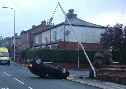 The scene in Woodplumpton Road Pic: LancsRoadPolice