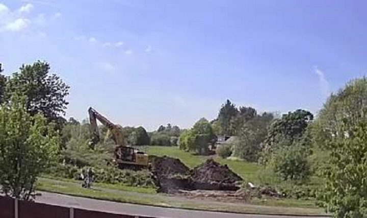 Work starts on the land off Wychnor