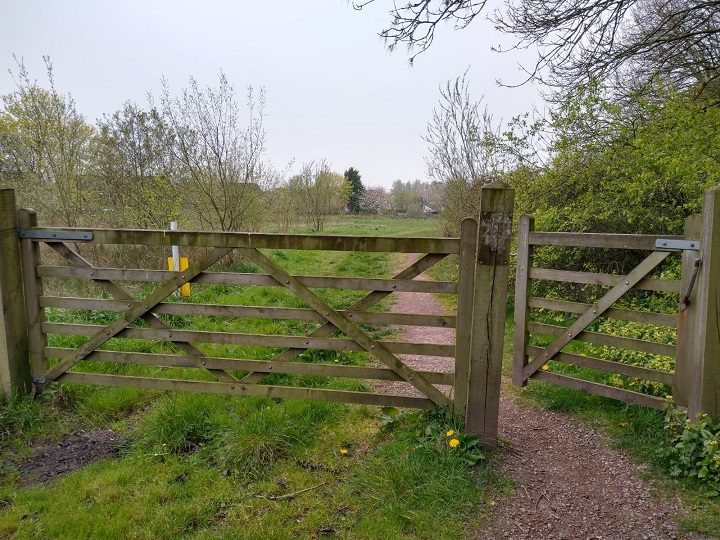Gate through into what used to be part of the golf course Pic: Blog Preston