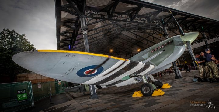 Spitfire on a mission at the Market Hall Pic: Michael Porter