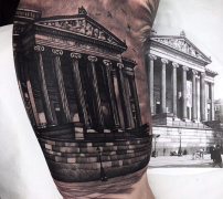 The Harris tattoo on Bartosz Parzych's bicep