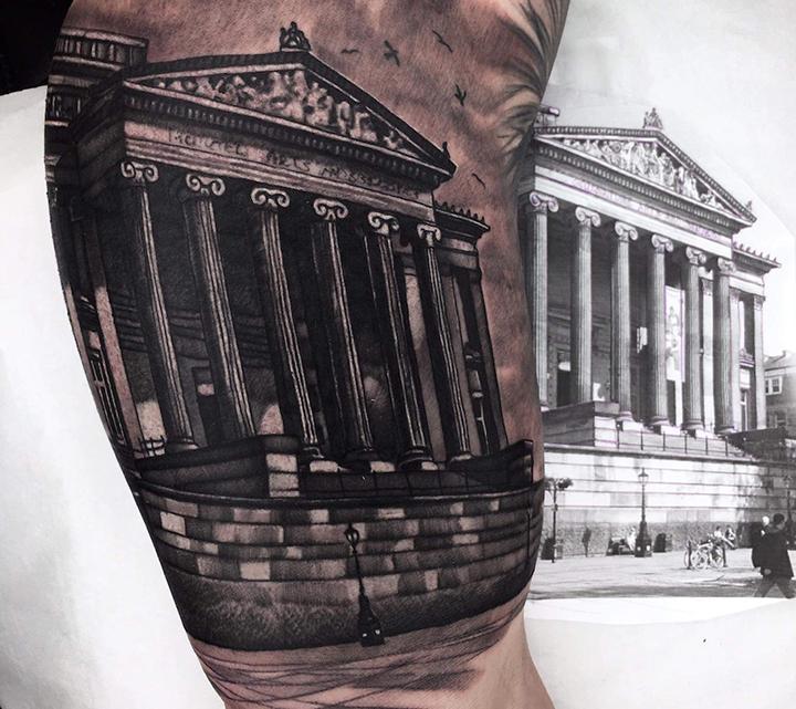 The Harris tattoo on Bartosz Parzych's bicep