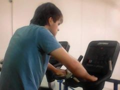 Include me 2 service user putting in the miles on the bike