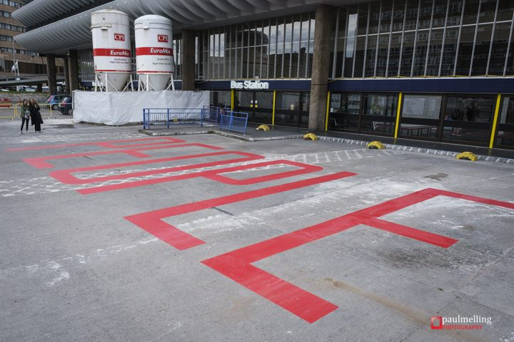 The new artwork on the western apron of Preston Bus Station Pic: Paul Melling