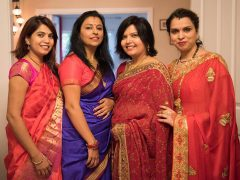 Indian women dressed in sarees
