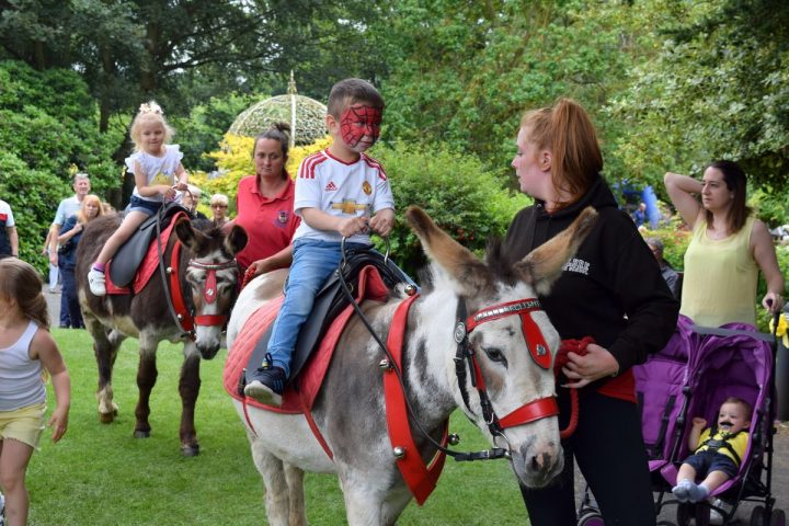 Spiderman rides out at St Catherine's Hospice's Yellow Day