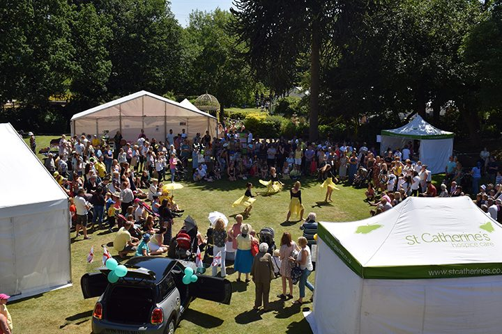 People enjoying last year's St Catherine's Hospice Yellow Day