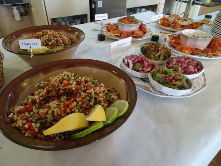 Food on offer at the Syrian Bistro