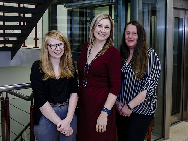 The Events Northern team, L-R: event manager Helen Brady, managing director Becki Cross, office manager Gill Knight