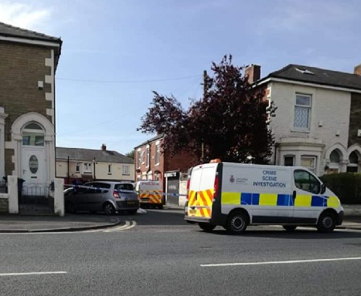 Police presence off New Hall Lane Pic: Mick Kay/Blog Preston