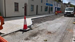 The work ongoing to create new parking bays in Broughton