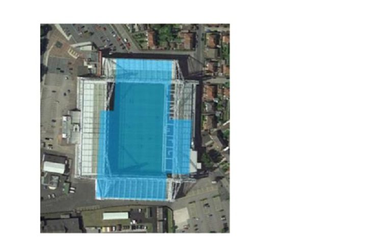The blue area is the size of the energy recovery centre