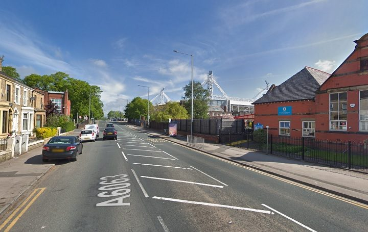 Deepdale Road has been gridlocked following the incident Pic: Google