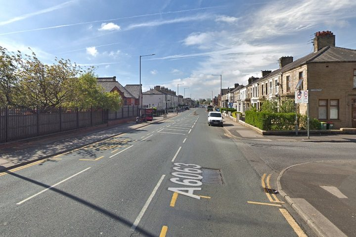 The crash took place in Deepdale Road close to St Thomas Road Pic: Google
