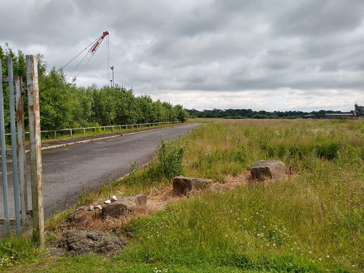 Access road into the land at Red Scar Pic: Blog Preston