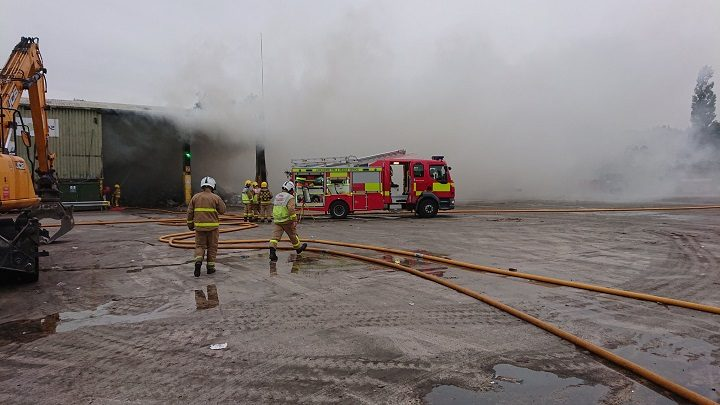 Another view of the fire at Red Scar Pic: Chorley/Bamber Bridge fire stations