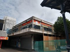 The former Indoor Market building and car park are cordoned off while demolition work continues Pic: Blog Preston