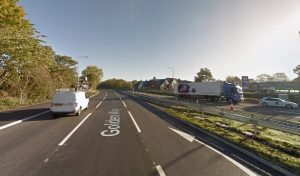 Golden Way is closed from the Booths roundabout Pic: Google
