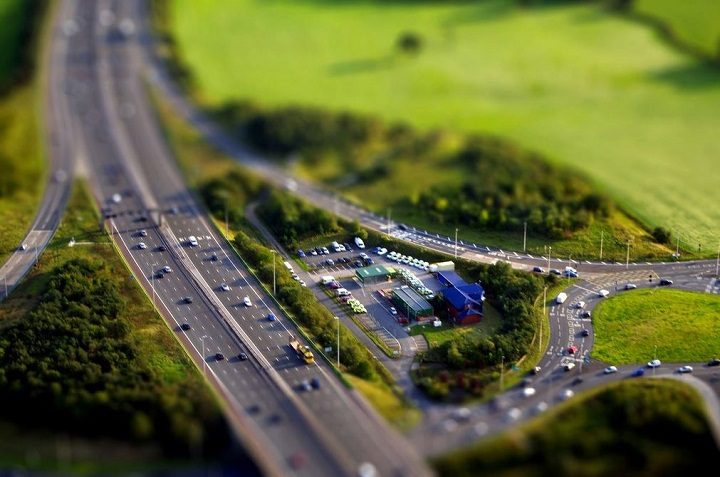 An overhead view of Junction 31 of the M6, key routes around it are due to see work done Pic: fragglehunter
