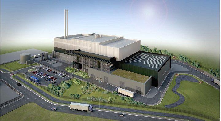 An overhead view of Longridge Road Energy Centre