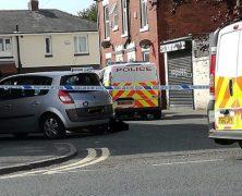 Police presence in Beenland Street Pic: Blog Preston