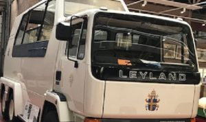 The Popemobile is kept at the British Commercial Vehicle Museum in King Street