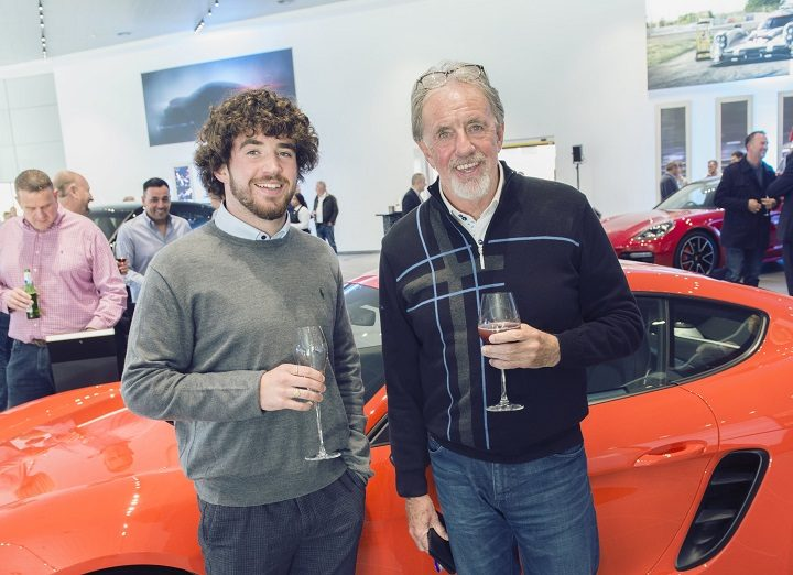 Mark Lawrenson was among those checking out the Porsche dealership