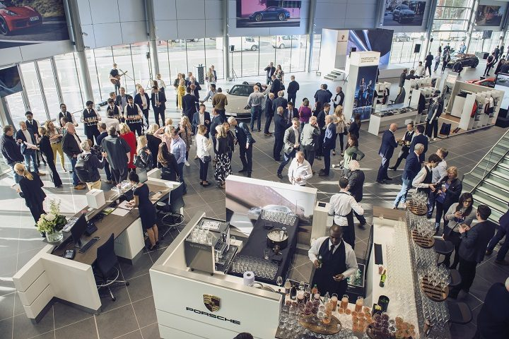 More than 500 guests joined the official Porsche showroom opening