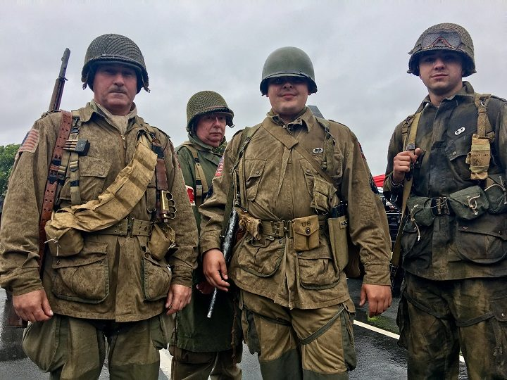 Braving the weather for the military show