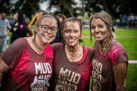 Muddy smiles at the Pretty Muddy event in Moor Park Pic: Billy Matthews