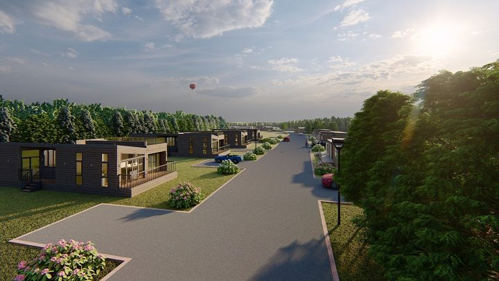 The new holiday homes planned as part of Reed Bay