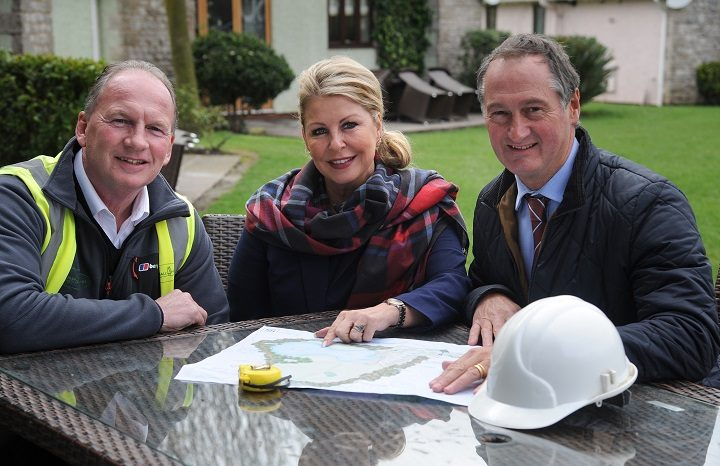 Construction manager Stuart Simmons, Holiday homes manager Tracy Richardson and Ribby Hall CEO Paul Harrison