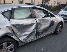 One of the vehicles involved in the crash Pic: LancsTacOps