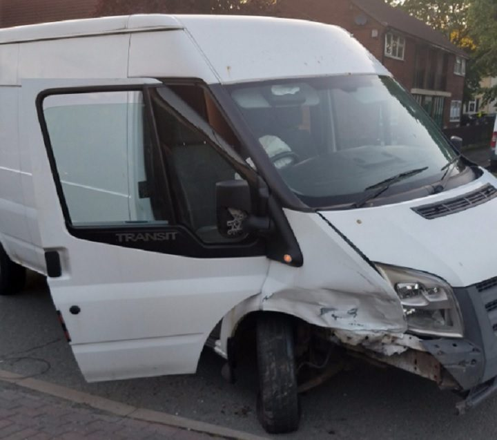 A white van was also damaged in the crash Pic: LancsTacOps