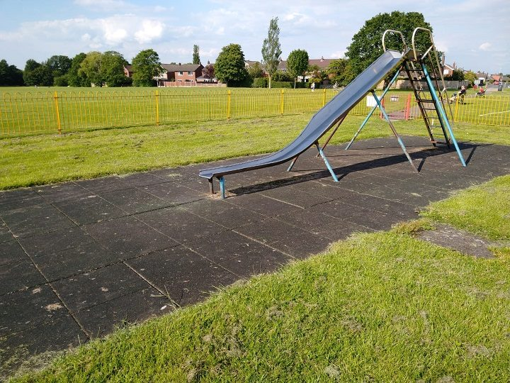 The slide at Conway Park play area Pic: Blog Preston