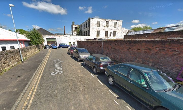 The incident took place near the burnt out car breakers yard in Southgate Pic: Google