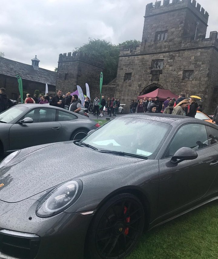 Supercar showtime with Hoghton Tower behind Pic: Blog Preston