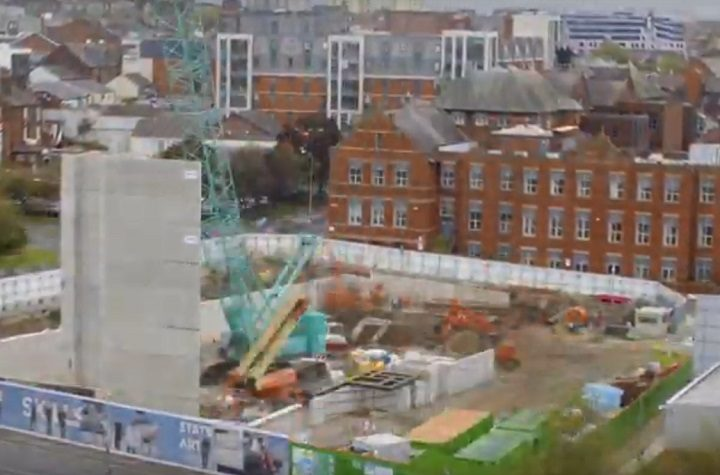 UCLan's new engineering building taking shape