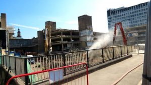Another view of the demolition work at the former Market Hall Pic: Stephen Melling