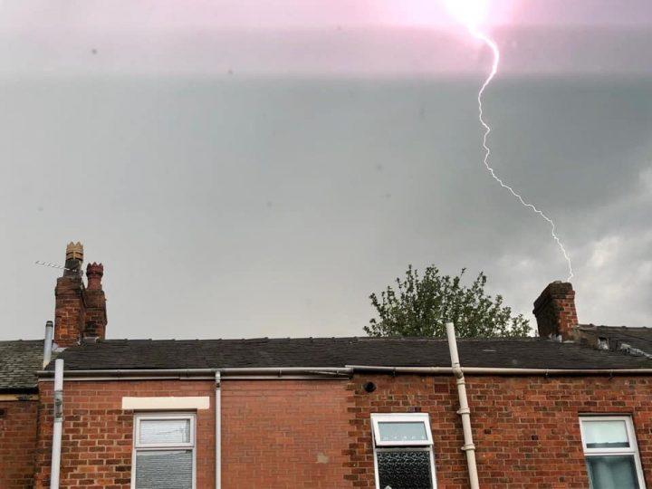Lightning storm over Preston Pic: Natalie Close