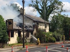 Fire damage can be seen to the Boars Head Pic: Nigel Trundle