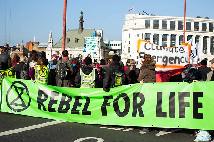 An Extinction Rebellion protest Pic: flickr.com/photos/8716204@N06/ CC BY 2.0