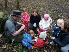 Mini explorers learning about nature
