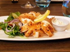 Chilli calamari with garlic mayonnaise