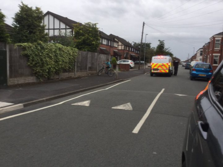 Police in Ripon Street Pic: Plungington Labour