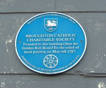 The blue plaque which has gone missing