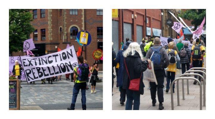 Climate change activists in Fishergate Pic: Sandra Kirkman