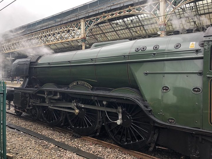 The Flying Scotsman standing at Preston Station Pic: Disability Equality North West