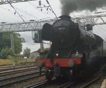 The Flying Scotsman comes steaming by Pic: Simon Gooch