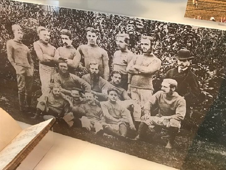 The exhibition takes you back through the history of the city's rugby club